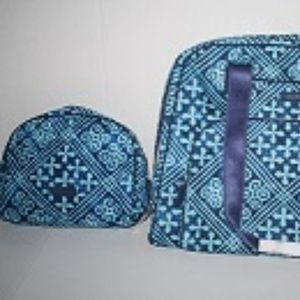 Vera Bradley Go Anywhere Carry On & Large Cosmetic